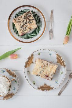 kleckerkuchen trickytine Camembert Cheese, Muffins, Sweet Treats, Bread, Snacks, Baking, Desserts, German Recipes, Food