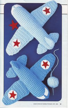 PDF Crochet Pattern - Play Planes 201296 by EunicesTickleTrunk on Etsy