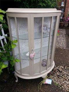 Charming Shabby Chic Display Cabinet, finished with Annie Sloan Paint