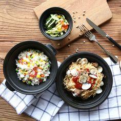 Купить товарВ японском стиле черный керамическая западная еда блюдо Плоская пластина бифштекс блюдо бытовые посуда салат чаша двойная уха чаша в категории  на AliExpress.