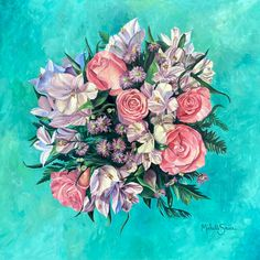 Spring Bouquet | Floral Series Spring Bouquet, Floral Wreath, Wreaths, Home Decor, Art, Art Background, Floral Crown, Decoration Home, Door Wreaths