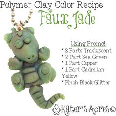 Polymer Clay Color Recipe for Faux Jade by KatersAcres