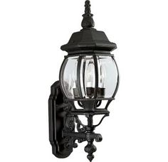 "View the Progress Lighting P5700 Onion 3 Light 23"" Tall Outdoor Wall Sconce with Clear Beveled Glass Panels at LightingDirect.com."