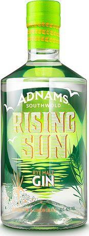 Adnams Rising Sun Gin: rye malt gin with matcha green tea and lemongrass Beverage Packaging, Bottle Packaging, Gin Bottles, Vodka Bottle, Whisky, Gin Joint, Booze Drink, Packaging Design, Liqueurs