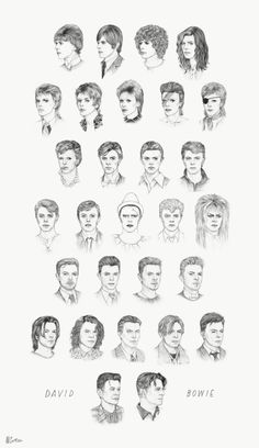 David Bowie hairstyles from 1964 to 2014, in one GIF.