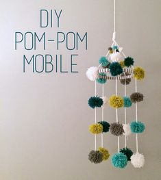 day to day with shelby mae: d.i.y. pom-pom mobile