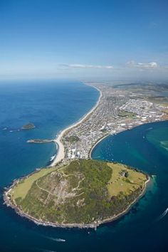 Mount Maunganui and Tauranga Harbour, Bay of Plenty, New Zealand