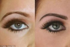 Amy Child's eyebrow raises a new look … which makes her look permanently shocked – microblading eyebrows Eyeliner Tattoo, Eyebrow Tattoo, Permanent Makeup Eyebrows, Eyebrow Makeup, Eyebrow Before And After, Amy Childs, Dark Eyebrows, Bold Brows, Eye Brows