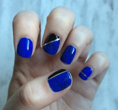 Nail art: Stamped and Striped with Essie polish and Gear Best supplies