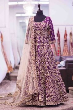 Beautiful Purple Anarkali