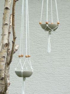 Hanging Concrete Baskets