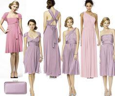 The three bridesmaids colours....