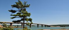 Bridge to St. Joseph Island, ON located on Lake Huron's North Channel.