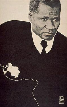 OSPAAAL posters: 1971 - Sekou Toure by Alfredo Rostgaard