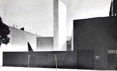 Museo El Eco, calle James Sullivan, Col. San Rafael, México DF 1953  Arqs. Mathias Goeritz y Luis Barragán