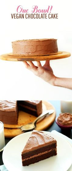 ONE BOWL 2 Layer Vegan Chocolate Cake! Highly recommended with Califia Toasted Coconut Chocolate Almondmilk