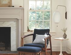 Brick Fireplace, Fireplace Mantels, Wall Sconce Lighting, Wall Sconces, Sconces Living Room, Bubble Wall, Nelson Bubble Lamp, Modern Lighting, Living Room Furniture