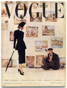 8743878a9120d British Vogue March 1948 The London Collections and Spring Fabrics Norman  Parkinson Vintage high fashion magazine