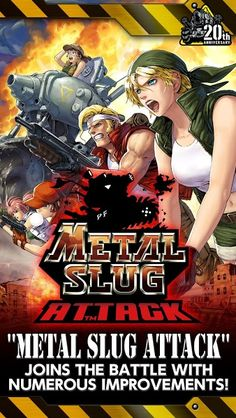 "METAL SLUG ATTACK v2.1.2 [Infinite AP]    METAL SLUG ATTACK v2.1.2 [Infinite AP]Requirements:Android 4.1Overview:The sequel to the worldwide hit ""METAL SLUG DEFENSE"" finally appears!""METAL SLUG ATTACK"" joins the battle with numerous improvements!  ABOUT THE GAME FEATURES  Simplified control!""METAL SLUG ATTACK"" the very latest entry in the legendary game series from SNK PLAYMORE is a tower defense game with simple controls which can be enjoyed by everyone and 2D dot-pixel characters who move…"