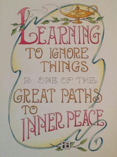 Mary Engelbreit - Learning to ignore things... #innerPeace #madeitmyown
