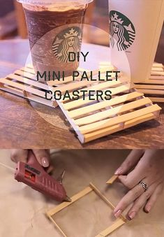 38 DIY Glue Gun Crafts 38 DIY Glue Gun Crafts,DIY mini palette coasters, easy DIY and perfect for a beach cozy home, check out this fantastic tutorial DIY Cute Crafts, Craft Stick Crafts, Crafts To Make, Craft Sticks, Easy Crafts, Easy Diy Gifts, Glue Sticks, Creative Crafts, Diy Glue
