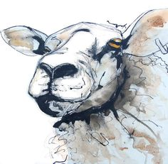 King Kevin Texel Sheep Painting by Suzy Sharpe