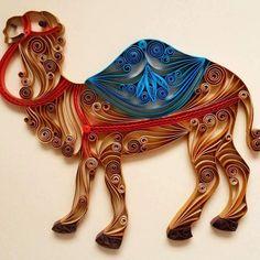 """Quilled Paper Art: """"Camel"""" - Handmade Artwork - Paper Wall Art - Home Decor - Wall Decor - Home Decoration - Quilled Art - Camel Paper Quilling Designs, Quilling Craft, Quilling Ideas, Rolled Paper Art, Paper Strips, Quilling Animals, Quilling Christmas, Quilled Creations, Paper Wall Art"""