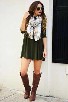 Join The Crowd Dress: Olive #shophopes