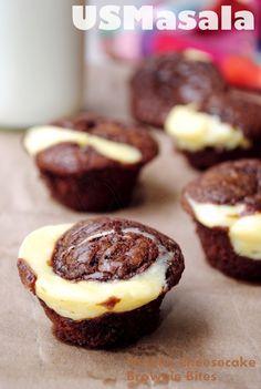 Nutella Brownie Cheesecake Bites!