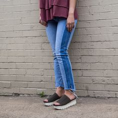 738a5e932b28 Gravity in Mint Wedge Sandals By OTBT Slide on in to the season in these new