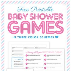 Baby Shower planning made simple and sweet. How To created by Gifts.com blog.http://blog.gifts.com/entertaining-2/baby-shower-planning-made-simple-and-sweet   Free Printable Baby Shower Games