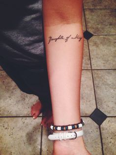 """Tattoo""""Daughter of a King"""" in my mothers hand writing. For I am a child of God and He is King of kings!"""