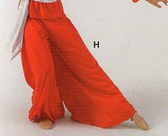NWT PRAISE LITURGICAL DANCE Palazzo Pants Red Child Sizes Praisewear