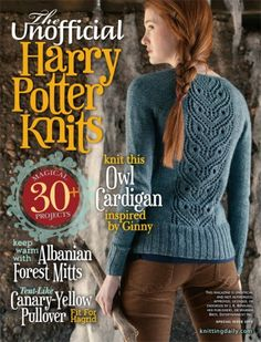 The unofficial harry potter knits, 2013 pdf meta Knitting Books, Loom Knitting, Knitting Projects, Crochet Projects, Pull Harry Potter, Harry Potter Crochet, Knitting Patterns, Crochet Patterns, Stitch Patterns