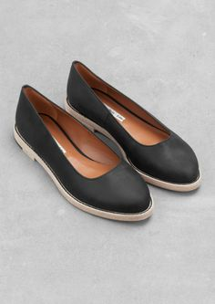 Leather flats | & Other Stories