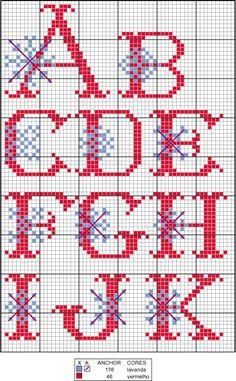 snowflake alphabet stitching - Bing Images