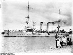 At the start of the war SMS Königsberg was in German East Africa. On 20 September 1914, she surprised and sank the British protected cruiser HMS Pegasus in the Battle of Zanzibar. She then retreated into the Rufiji River to repair her engines. Before the repairs could be completed, British cruisers located Königsberg, and, unable to steam into the river, set up a blockade. Two monitors, Mersey and Severn, successfully forced the delta and damaged Königsberg so that it had to be scuttled.