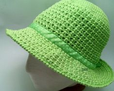 Crochet hat with brim sun Ideas - top crop , polos cortos , dresses , summer crochet - Hut Crochet Hat With Brim, Crochet Summer Hats, Crochet Hat For Women, Crochet Mittens, Crochet Shawl, Knitted Hats, Knit Baby Sweaters, Wide-brim Hat, Hats For Women