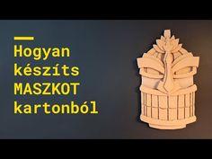 Hogyan keszíts maszkot kartonpapírból - YouTube Cardboard Mask, The Creator, Youtube, How To Make, Youtubers, Youtube Movies