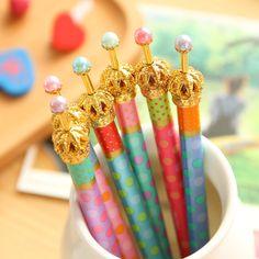 Ucuz 0.5mm sevimli kawaii metal taç tükenmez kalem nokta tükenmez kalem yazmak için kırtasiye okul ofis ücretsiz nakliye malzemeleri 424, Satın Kalite tükenmez Kalemler doğrudan Çin Tedarikçilerden: