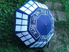 Dr Who: I found this blue umbrella and was like I need to rock me some Who when it rains, cause I mean who wouldn't want that.. I just used paint acrylic paint and i'm planning on sealing with with something.. Not sure yet..