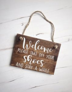 Welcome sign, please take off your shoes. #woodsign #entrysign #welcomesign #rusticwoodsign    https://www.etsy.com/listing/542904331/please-take-off-your-shoes-sign-welcome