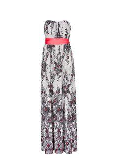 Lace print long dress
