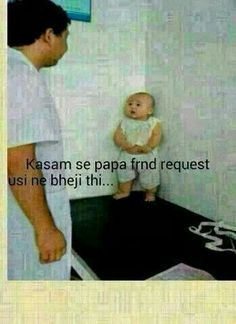 Cute babies ideas and lovely voice notes 💋💋💋💋😘😘😘😘💕💕💕💕 Funny Baby Memes, Funny School Jokes, Funny Jokes In Hindi, Some Funny Jokes, Funny Relatable Memes, Funny Babies, Funny Kids, Crazy Jokes, Crazy Funny Memes