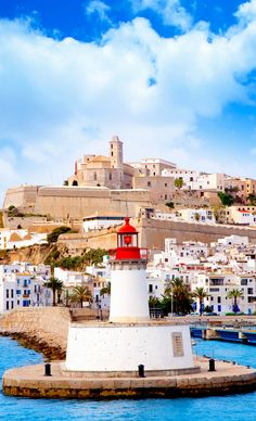 Eivissa (Ibiza, in Castilian), a town jam-packed with cafés, nightspots, and trendy shops, Spain