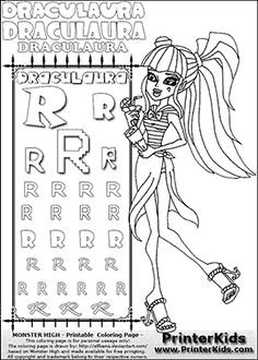 monster high draculaura drink and a map summer coloring page 2 color monster high pinterest monster high and monsters
