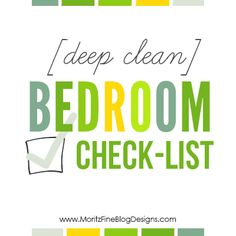 Has it been forever since you have cleaned out your closets, drawers and deep cleaned your bedroom? Use this Deep Clean Bedroom Checklist to stay on task! Spring Cleaning Bathroom, Bathroom Cleaning Checklist, Cleaning Checklist Printable, Spring Cleaning Organization, Spring Cleaning Checklist, Cleaning Quotes, Bedroom Cleaning, Cleaning Schedules, Organization Ideas