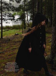 Some Enchanted Evening | Josephine Skriver | Yelena Yemchuk #photography | Harper's Bazaar UK December 2012