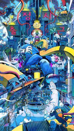 Une sélection des illustrations colorées deLee Juyong, un illustrateur coréen qui nous dévoile sa vision du monde moderne à travers de compositions explo