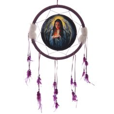 Decorative Guardian Angel 34cm Dreamcatcher Dreamcatchers are a great way to add colour and design to your home or workplace Made from a printed